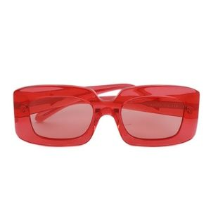 Karen Walker Red Plastic Sunglasses